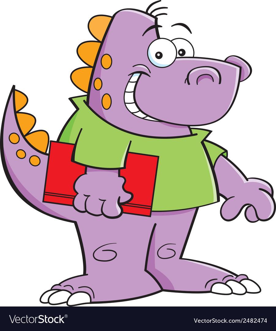 Cartoon dinosaur kid vector   Price: 1 Credit (USD $1)