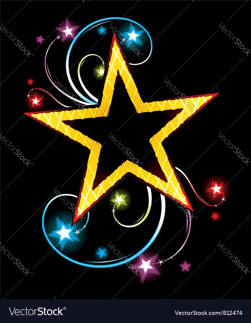 Gold star vector | Price: 3 Credit (USD $3)