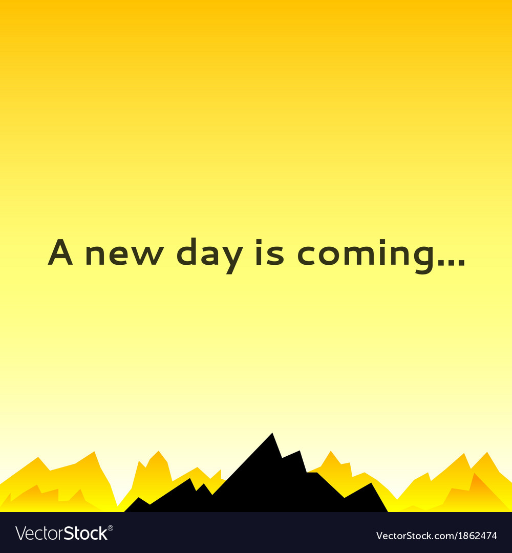 Morning sky with mountain spikes vector | Price: 1 Credit (USD $1)