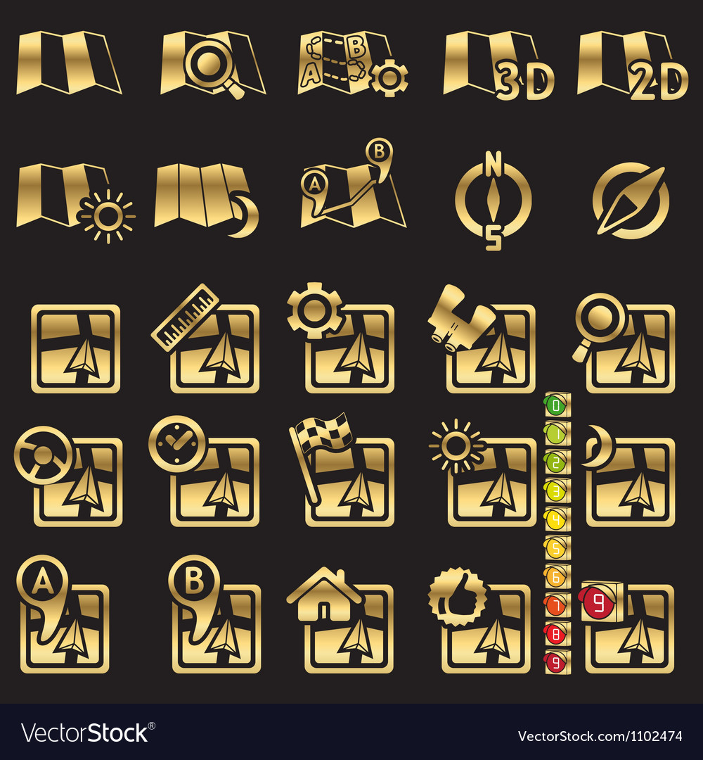Set of navigational icons vector   Price: 1 Credit (USD $1)