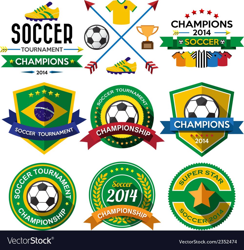 Soccer football badge and labels vector | Price: 1 Credit (USD $1)