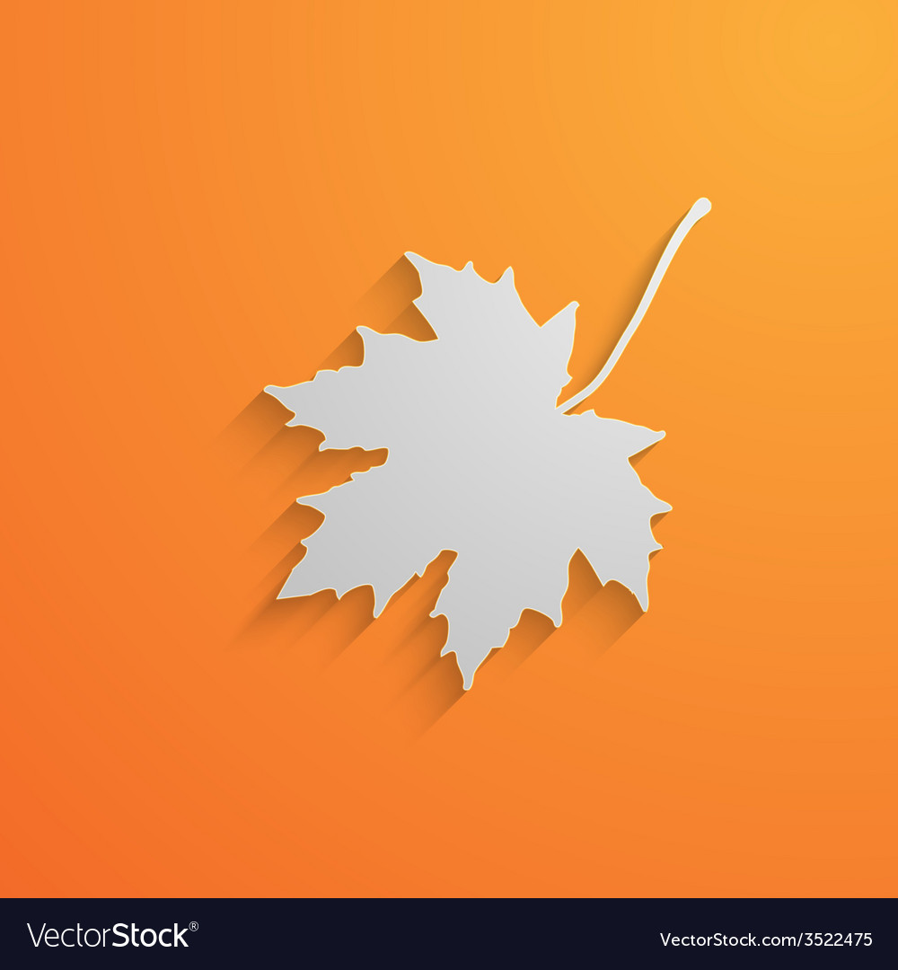 A paper 3d maple leaf with shadow autumn vector | Price: 1 Credit (USD $1)