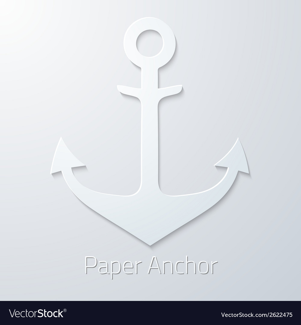 Antique travel paper anchor flat icon vector | Price: 1 Credit (USD $1)