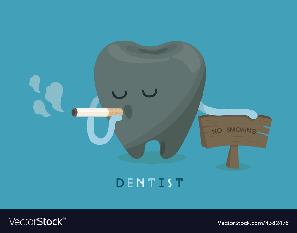 Black tooth because smoking vector | Price: 1 Credit (USD $1)