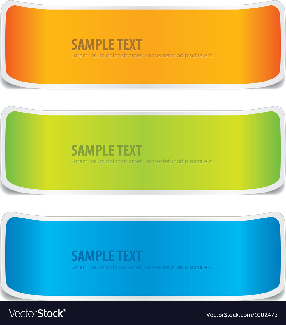 Colorful banner design vector | Price: 1 Credit (USD $1)