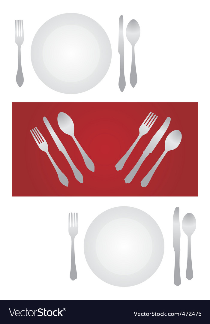 Dinner set vector | Price: 1 Credit (USD $1)
