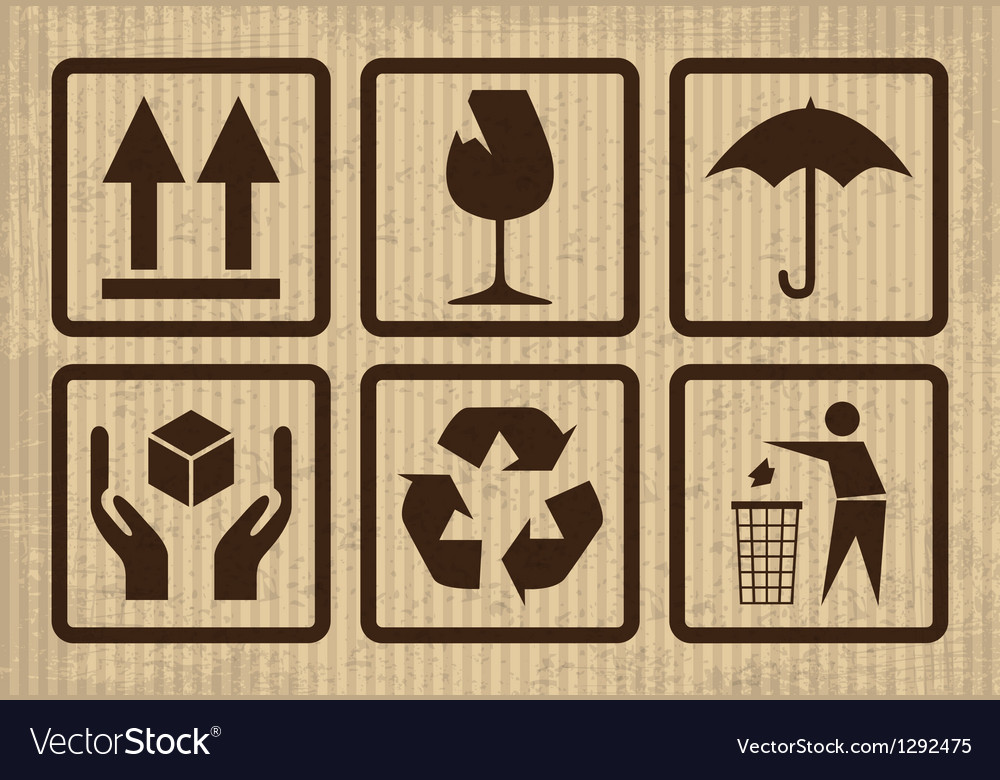 Fragile symbols vector | Price: 1 Credit (USD $1)