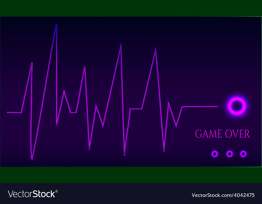 Game over - ekg graph vector | Price: 1 Credit (USD $1)