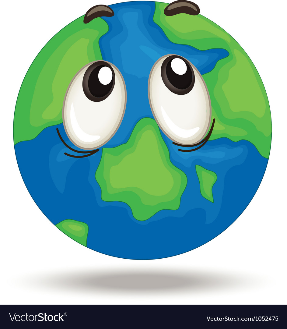 Globe face vector | Price: 1 Credit (USD $1)