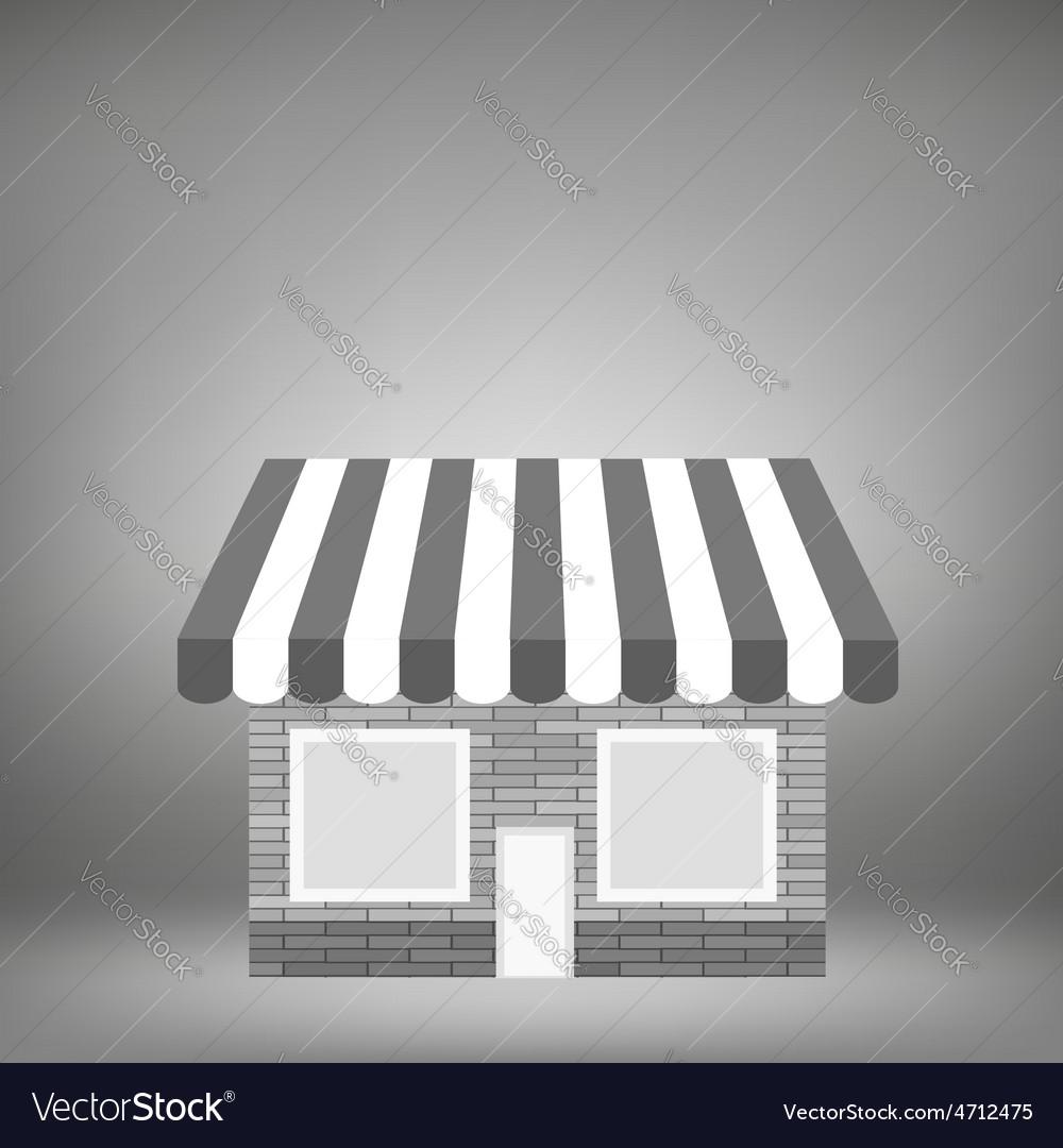 Grey shop icon vector | Price: 1 Credit (USD $1)