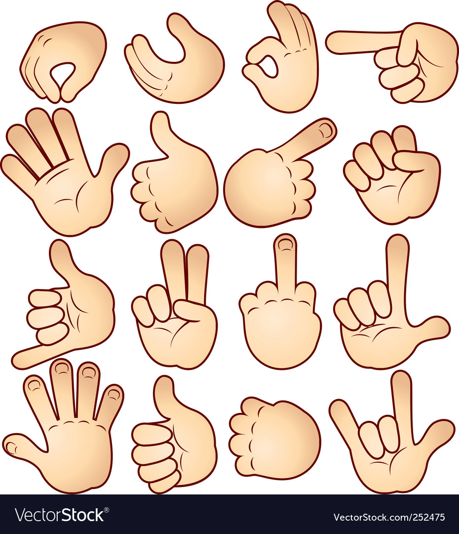 Hand signals vector | Price: 3 Credit (USD $3)