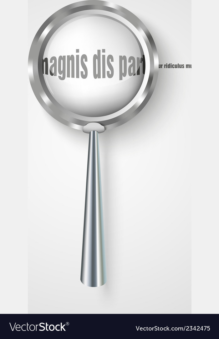 Magnifying glass with increased letters vector | Price: 1 Credit (USD $1)