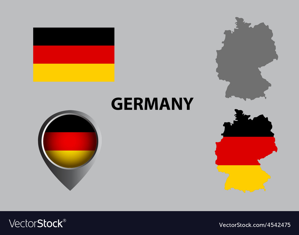 Map of germany and symbol vector | Price: 1 Credit (USD $1)