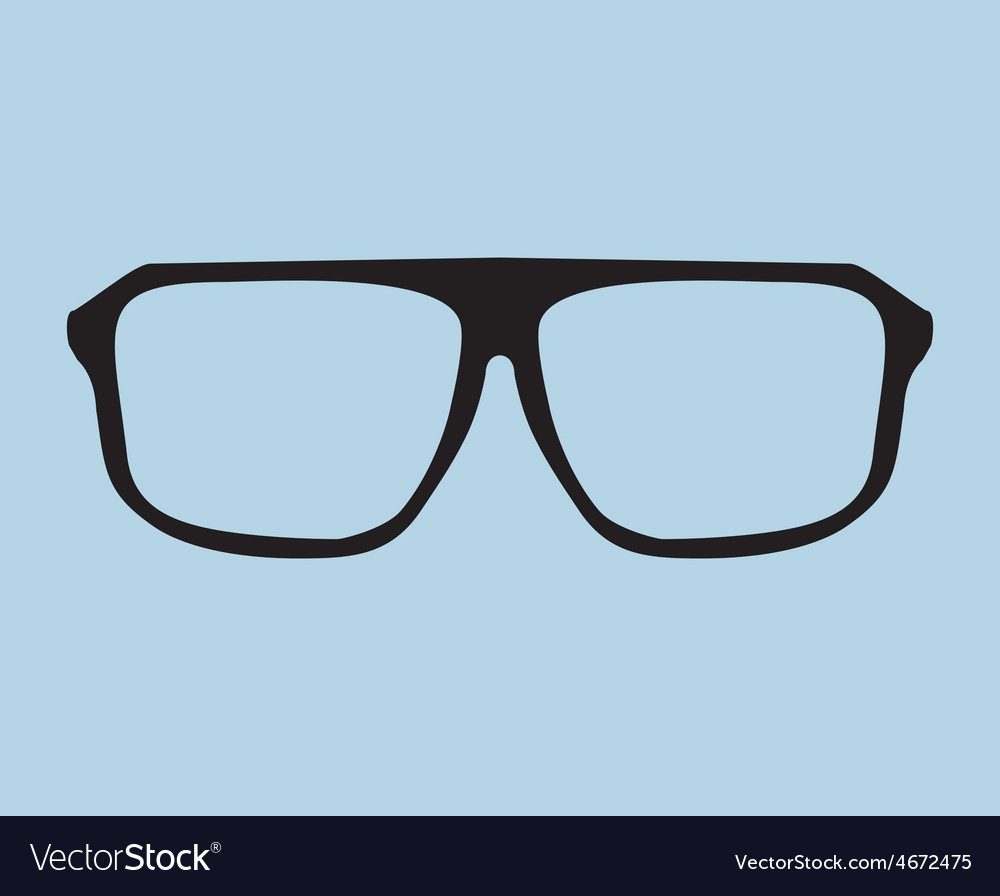 Nerd glasses on blue background vector | Price: 1 Credit (USD $1)
