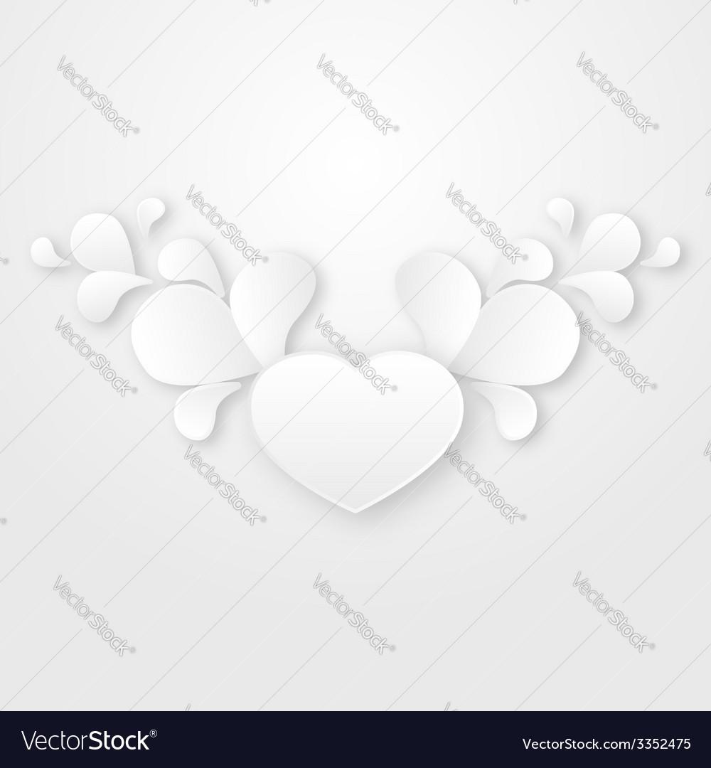 Paper floral design element vector | Price: 1 Credit (USD $1)