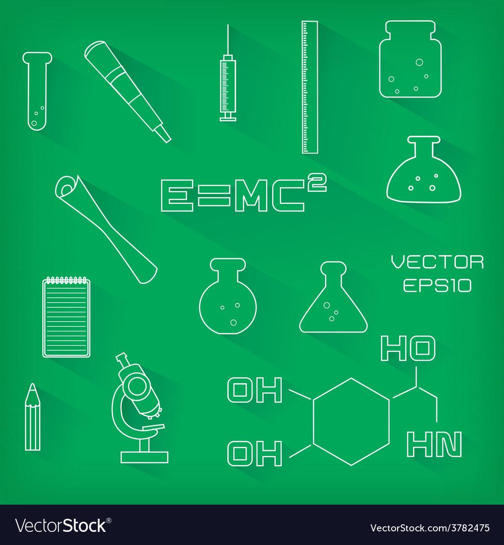 Set of scientific icons vector | Price: 1 Credit (USD $1)