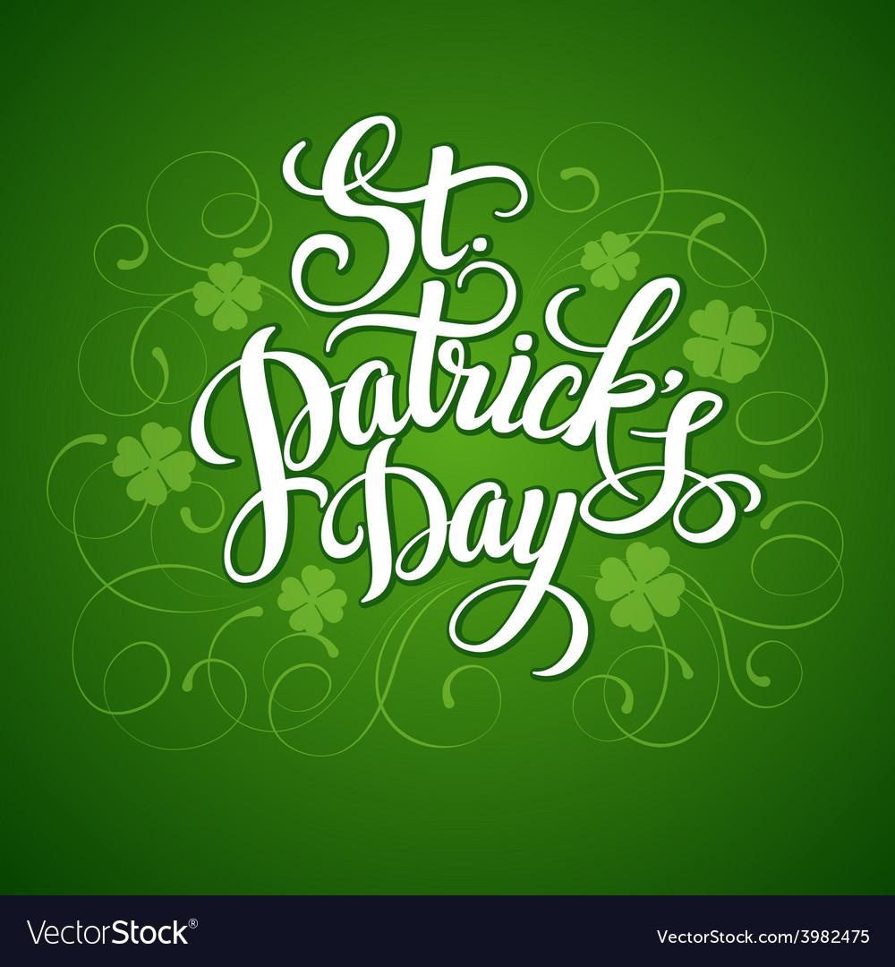 St patricks day greeting vector   Price: 1 Credit (USD $1)