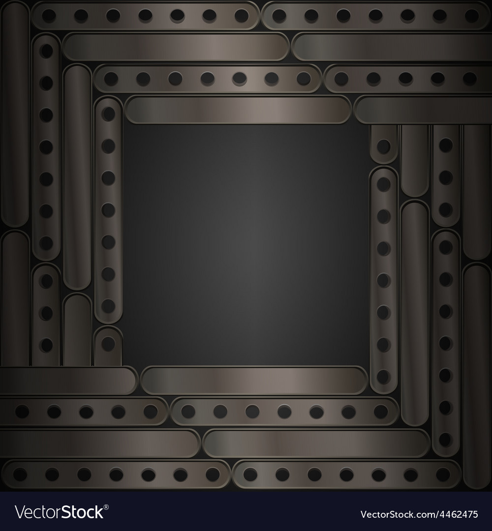 Steampunk background metal plates frame vector | Price: 1 Credit (USD $1)