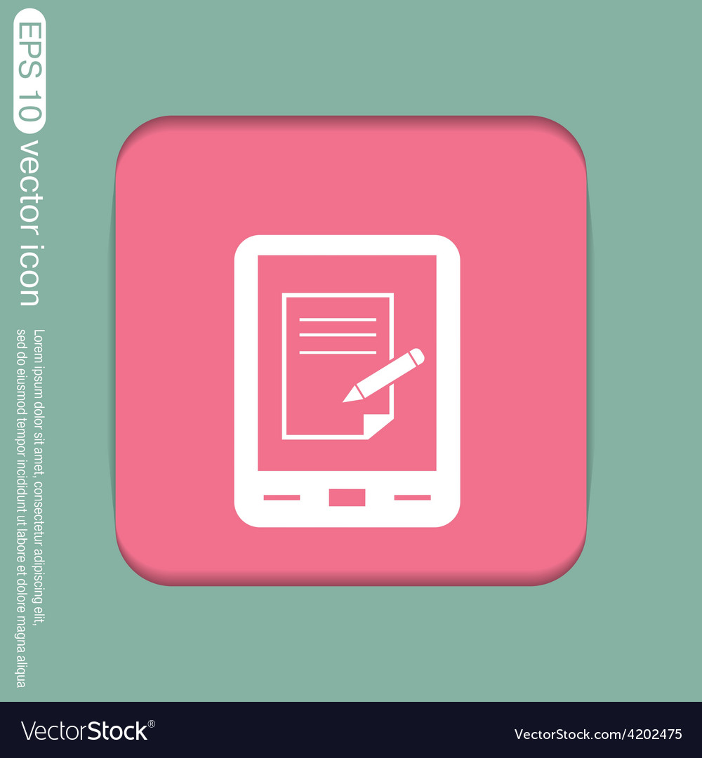 Tablet pad with sheet of paper vector | Price: 1 Credit (USD $1)