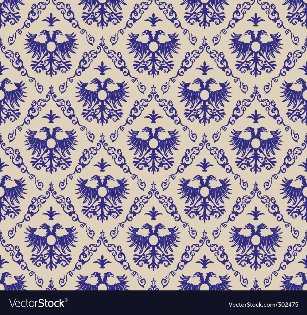 Vintage wallpaper pattern vector | Price: 1 Credit (USD $1)