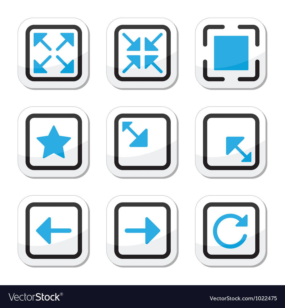 Web page screen size icons set vector | Price: 1 Credit (USD $1)