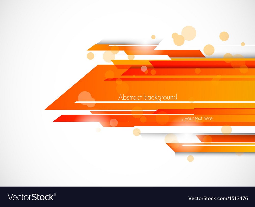 Abstract tech background in orange color vector | Price: 1 Credit (USD $1)