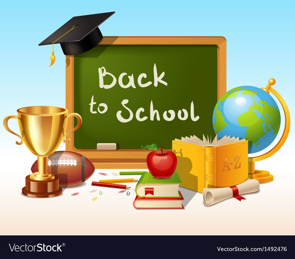 Back to school background with place for text vector | Price: 3 Credit (USD $3)