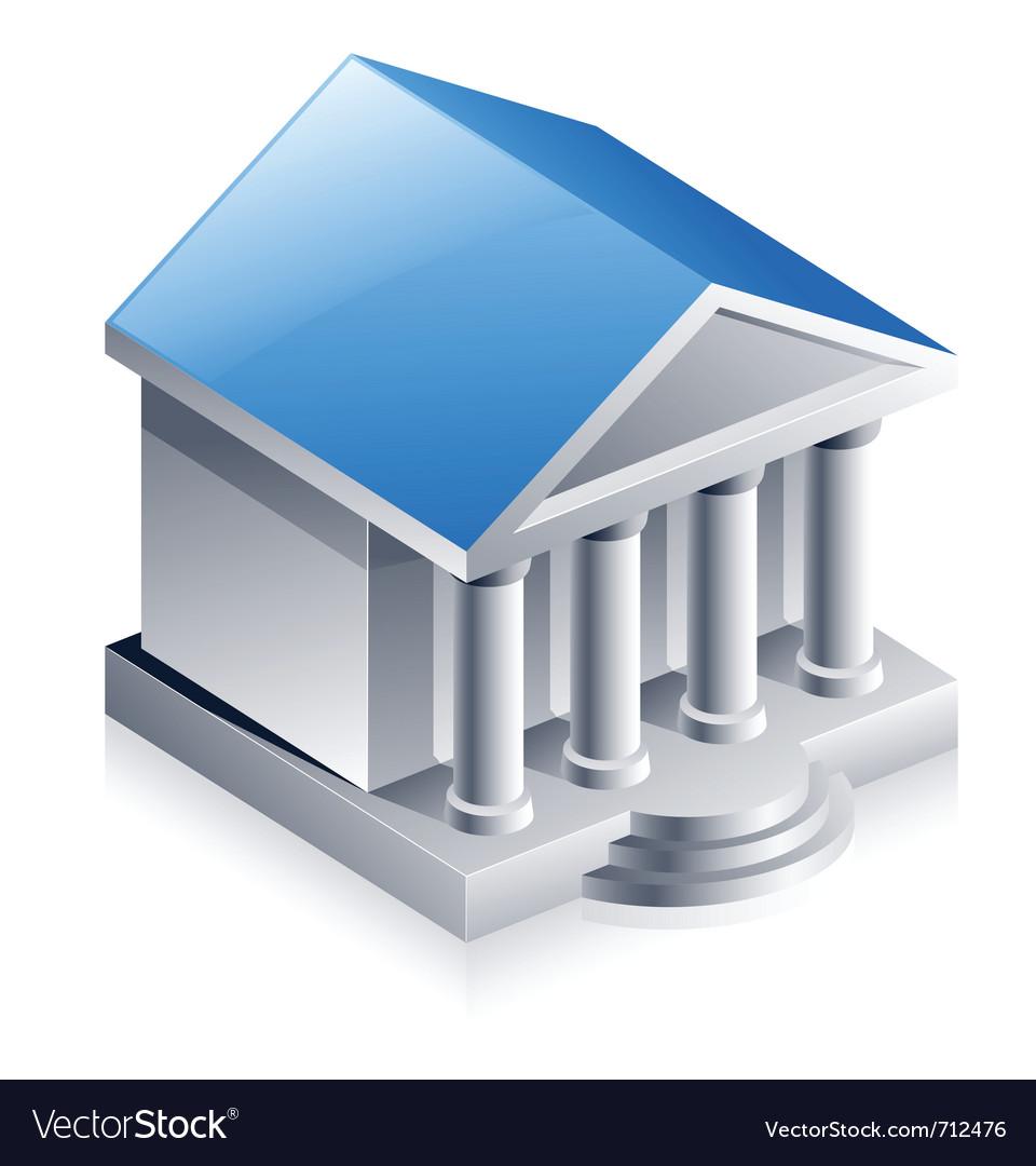 Bank building vector | Price: 3 Credit (USD $3)