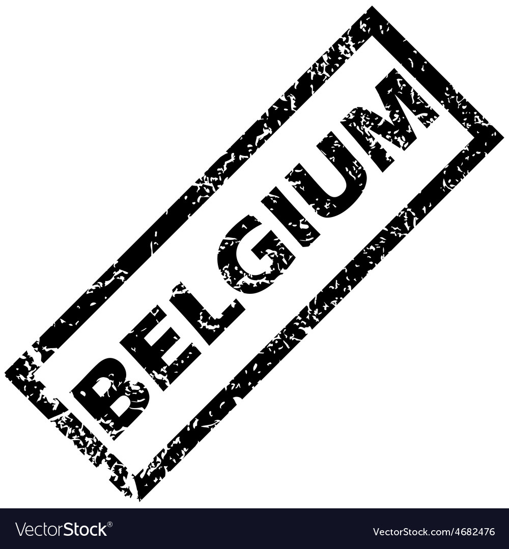 Belgium rubber stamp vector | Price: 1 Credit (USD $1)