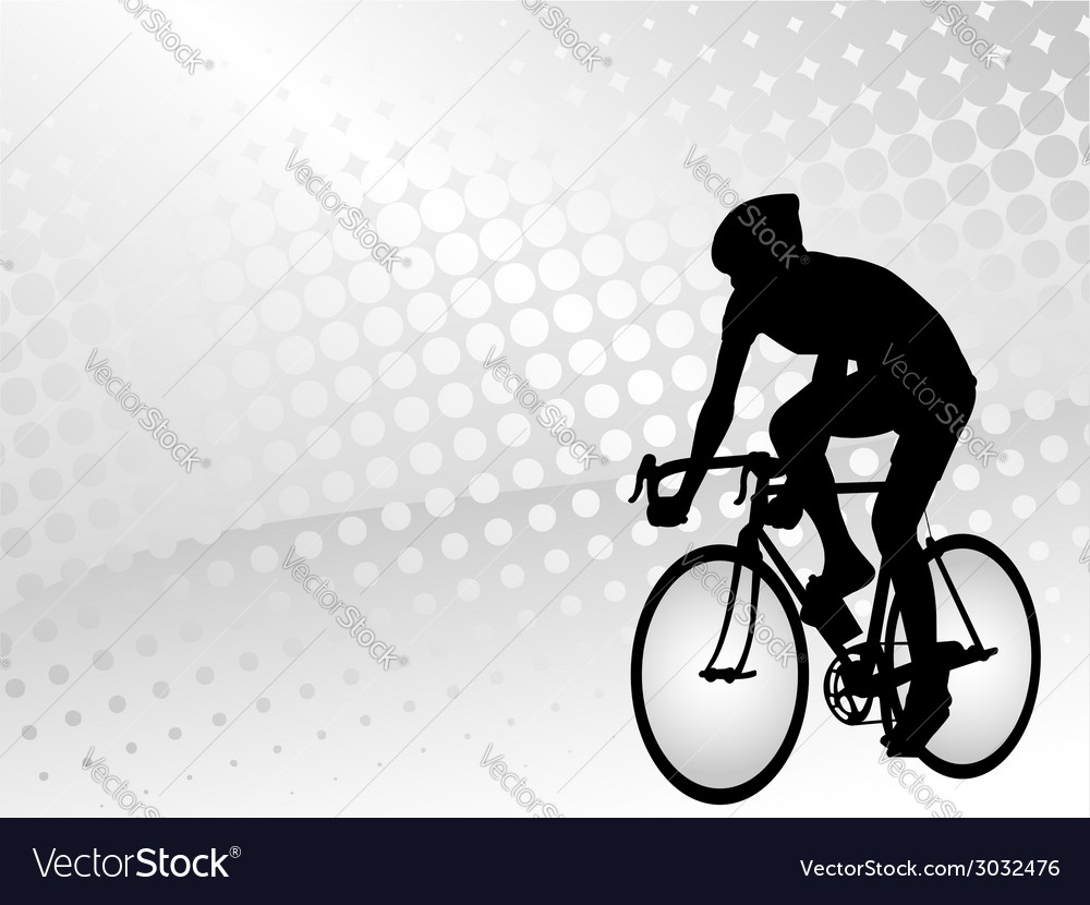 Bicyclist silhouette on the abstract background vector | Price: 1 Credit (USD $1)