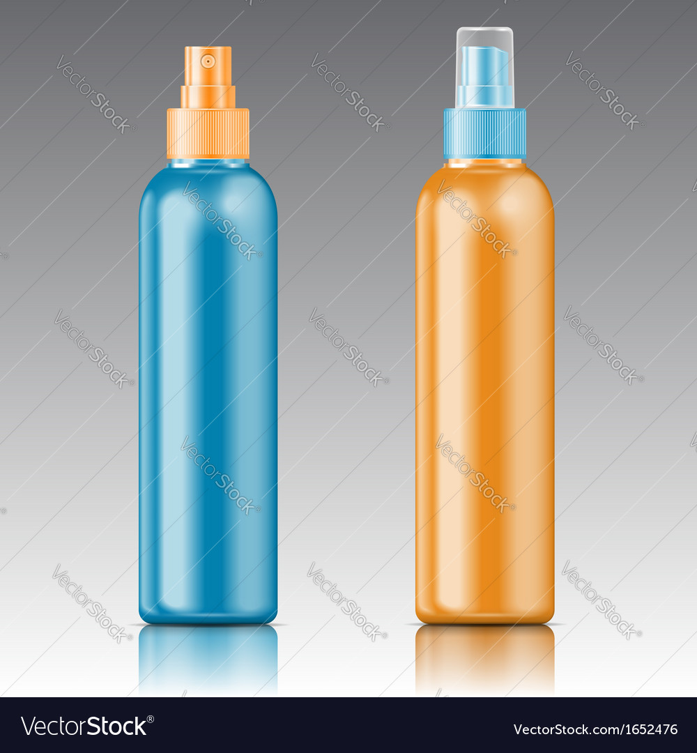 Colored sprayer bottle template vector | Price: 1 Credit (USD $1)