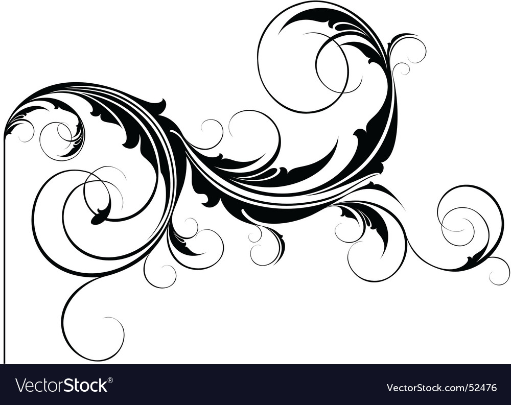 Flourish element vector | Price: 1 Credit (USD $1)