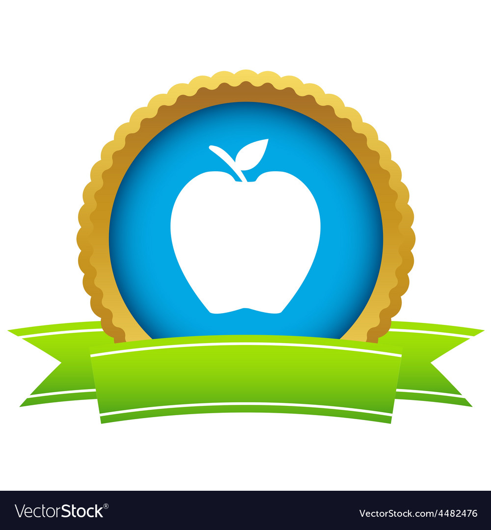 Gold apple logo vector | Price: 1 Credit (USD $1)