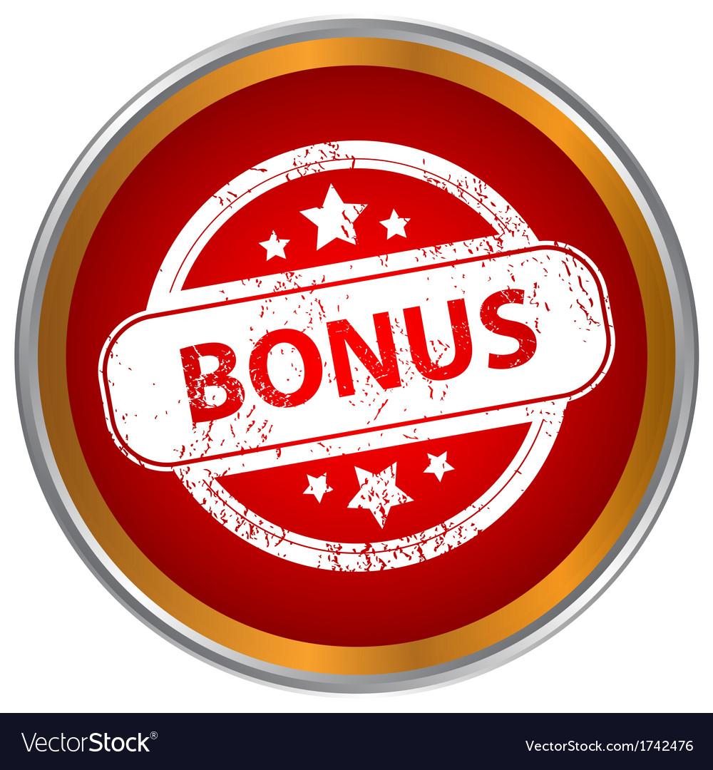 Grunge icon with the text bonus vector | Price: 1 Credit (USD $1)