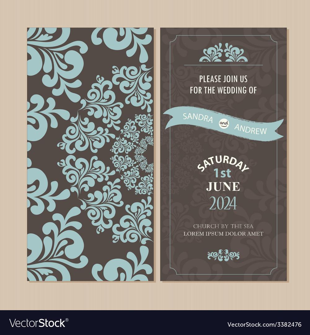 Invitation card set vector | Price: 1 Credit (USD $1)