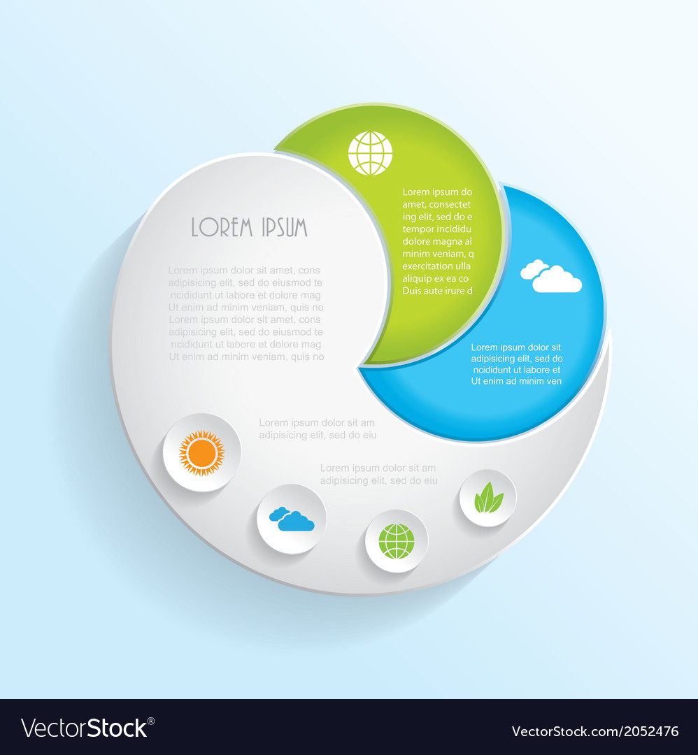 Modern ecology infographic template design vector | Price: 1 Credit (USD $1)
