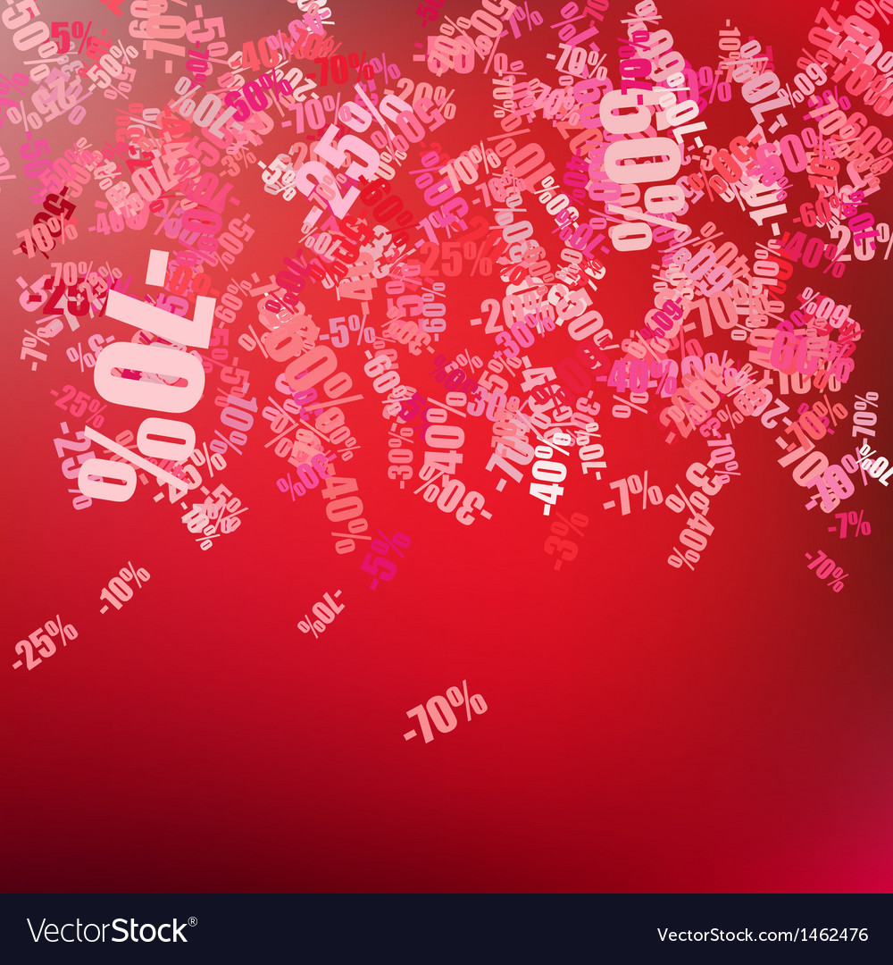 Sale background with percent discount pattern eps vector | Price: 1 Credit (USD $1)