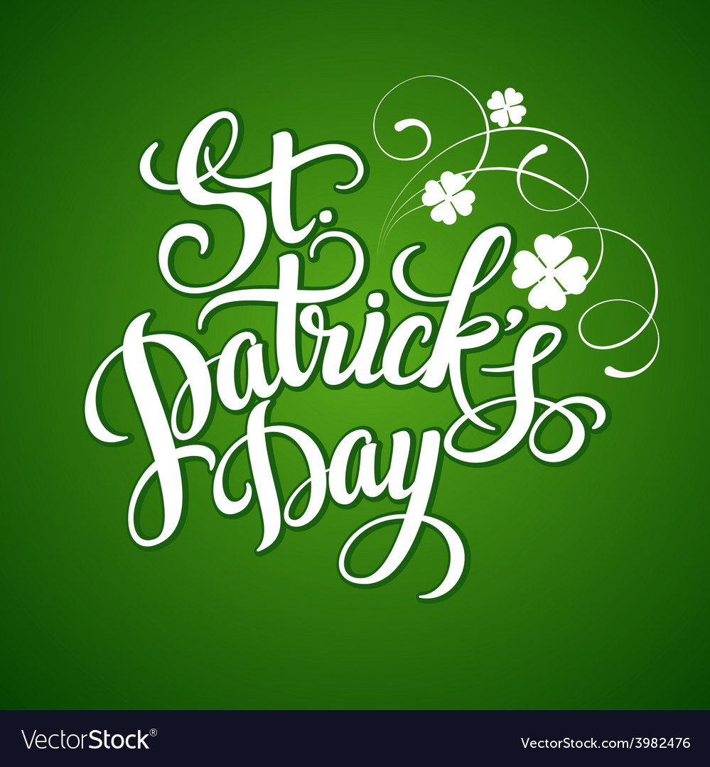 St patricks day greeting vector | Price: 1 Credit (USD $1)
