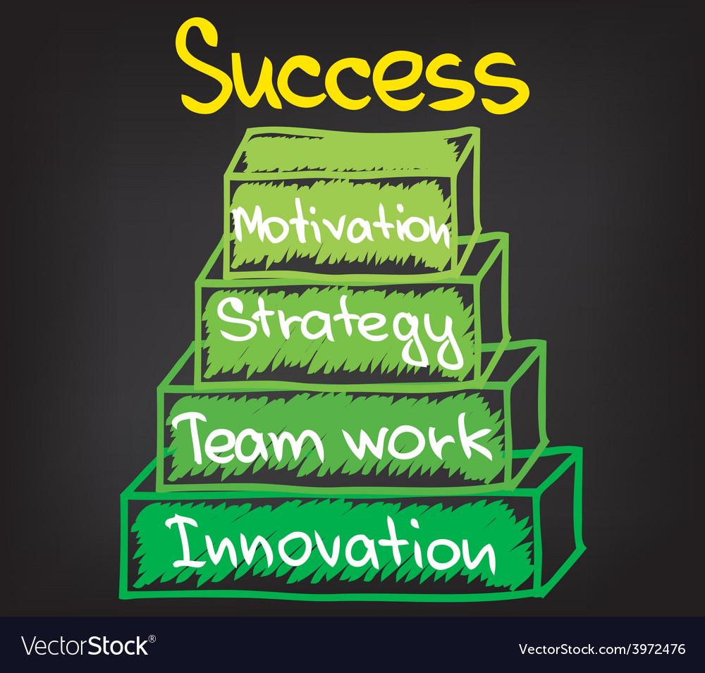 Success chart 3 vector | Price: 1 Credit (USD $1)