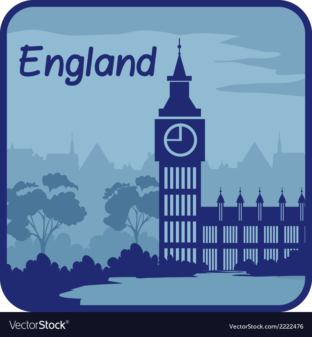 With big ben in london vector | Price: 1 Credit (USD $1)