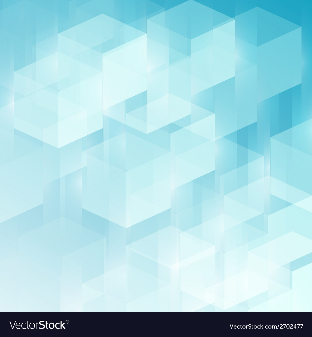 Abstract technology futuristic cubes background vector | Price: 1 Credit (USD $1)