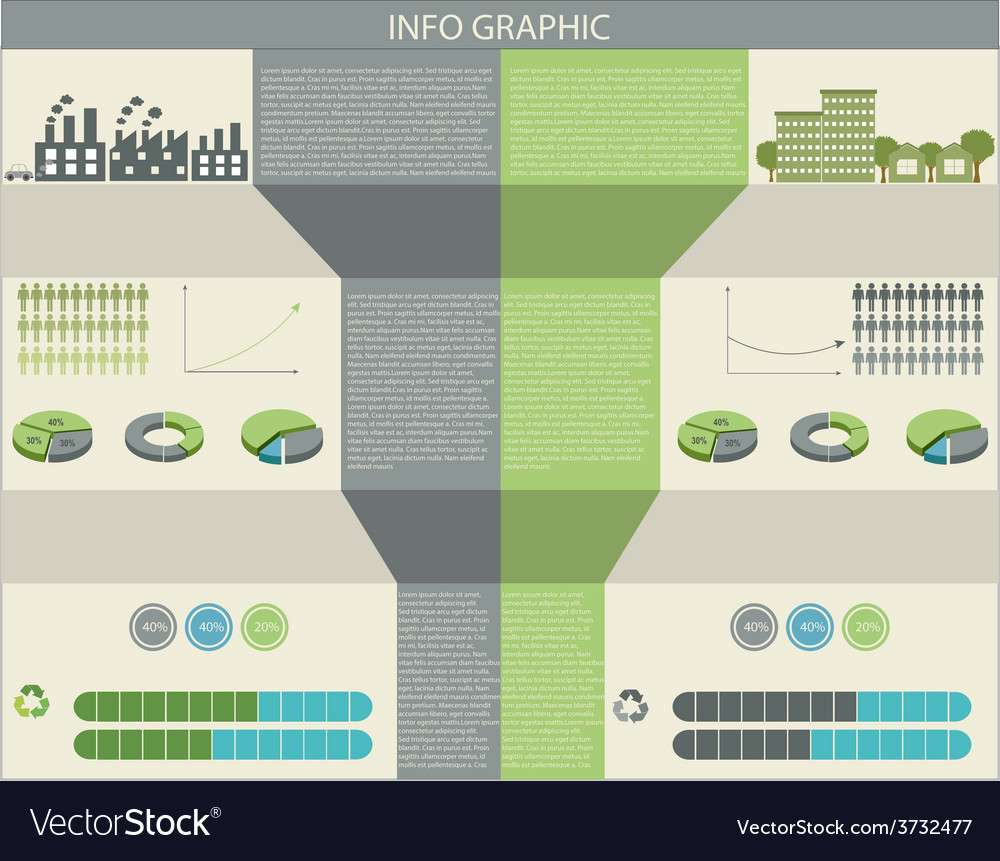 An infographic of humans and the environment vector | Price: 1 Credit (USD $1)