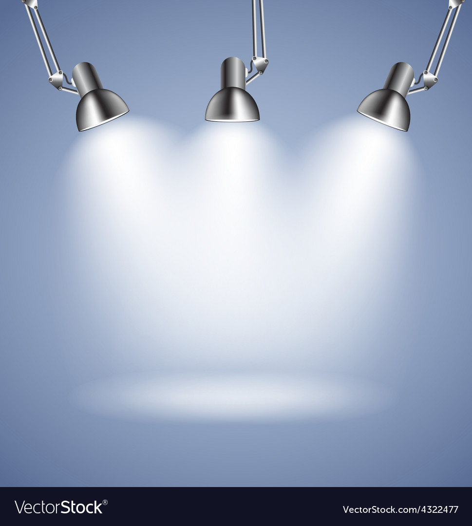 Background with lighting lamp empty space for vector | Price: 1 Credit (USD $1)