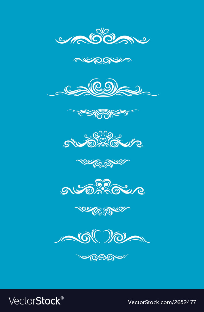 Borders floral set vector | Price: 1 Credit (USD $1)