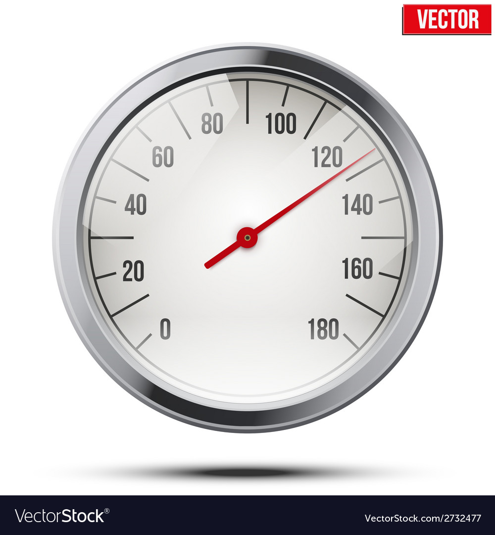 Classic round scale speedometer vector | Price: 1 Credit (USD $1)