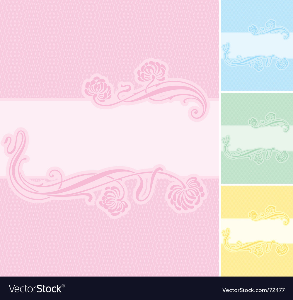 Floral label background vector | Price: 1 Credit (USD $1)