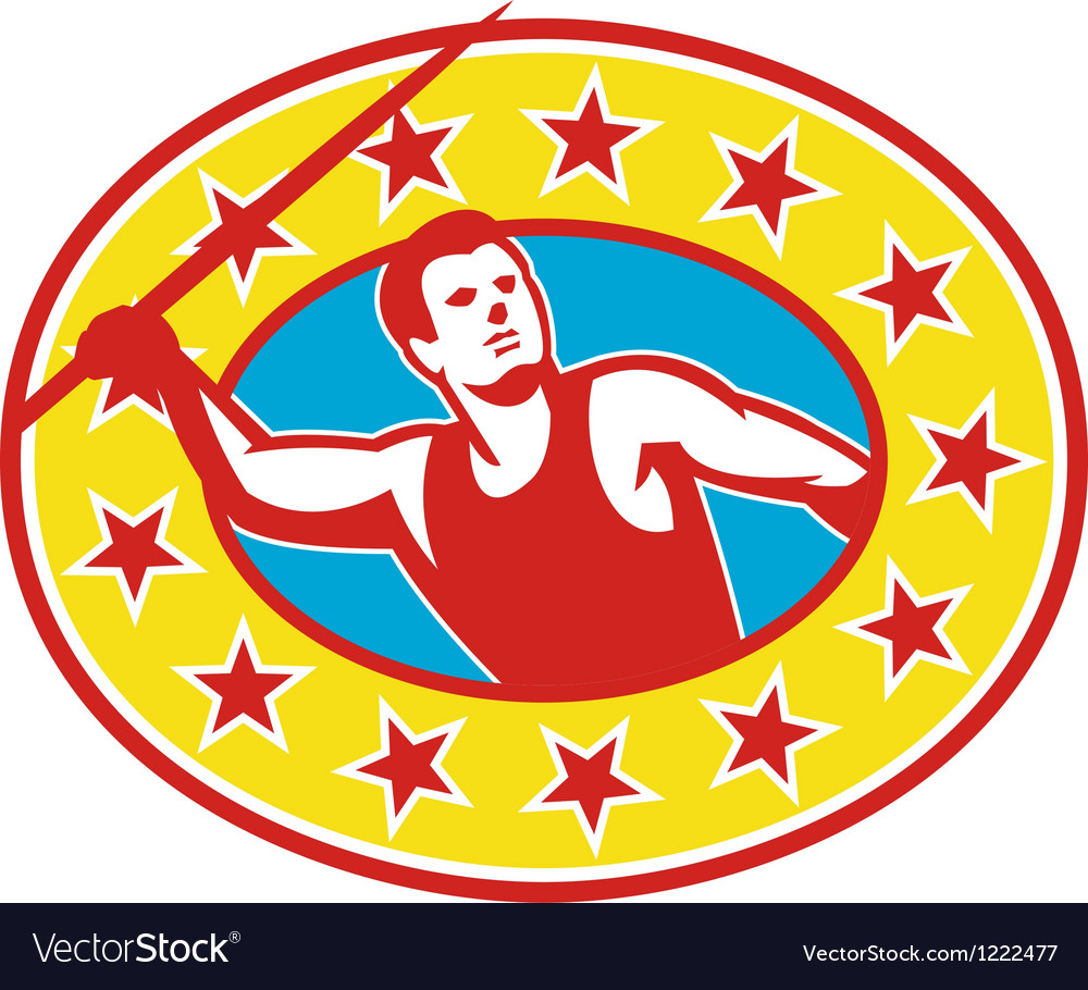 Javelin throw track and field athlete vector | Price: 1 Credit (USD $1)