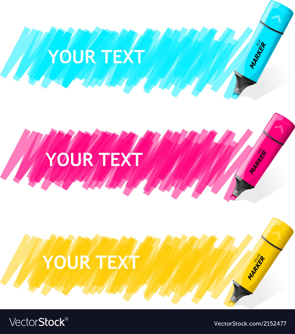 Markers text box vector | Price: 1 Credit (USD $1)