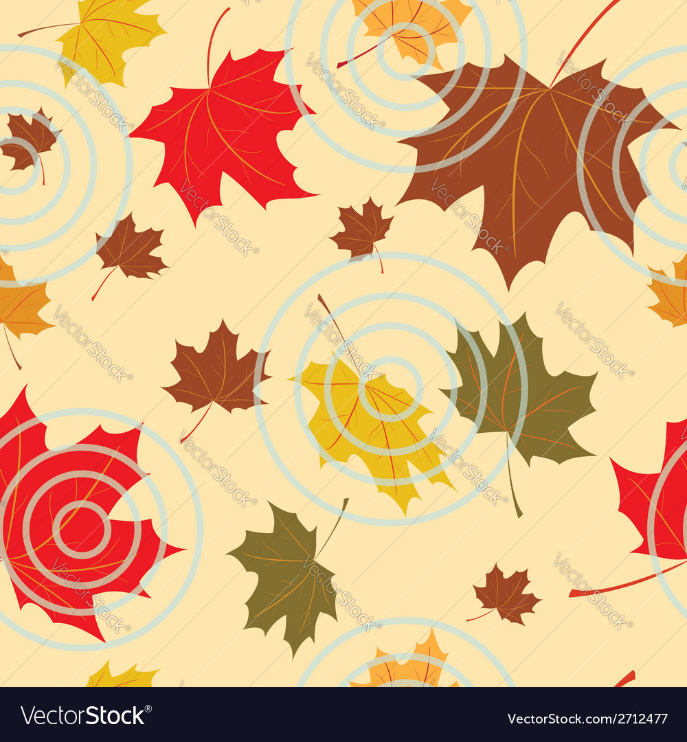 Seamless autumnal background vector | Price: 1 Credit (USD $1)