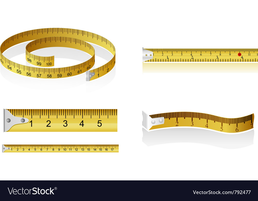Set of measuring tapes vector | Price: 1 Credit (USD $1)